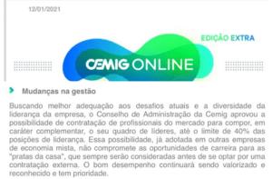 Comunicado Cemig Online Edição Extra