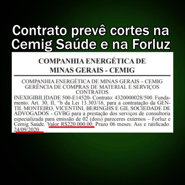 Conselheiro-Cemig Saúde-Cortes-Forluz